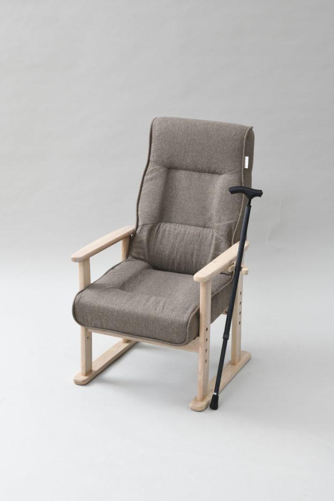 山善「レバー式立ち上がり楽々高座椅子 NWTZ-55TL(LBR/NA)」