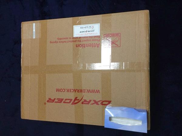 「DXRACER(DXレーサー)」の箱の大きさ