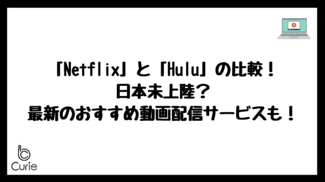 NetflixとHuluの比較!日本未上陸の最新おすすめ動画配信サービスも知っておこう!