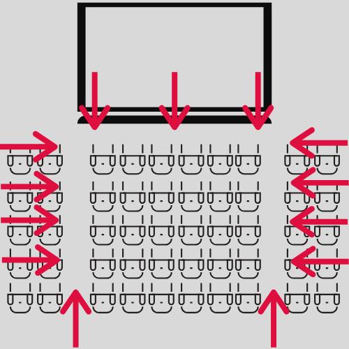 映画館のスピーカー配置